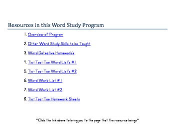 Whole Year Word Study (Spelling) Pack- Third Grade