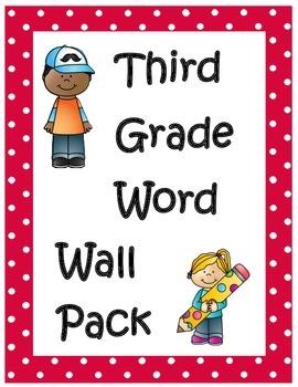 Third Grade Word Wall Words