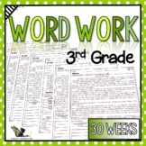 Third Grade Word Work Activities with Digital Option for Distance Learning