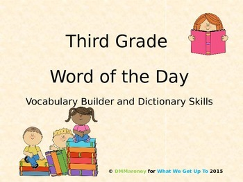 Third Grade Word of the Day