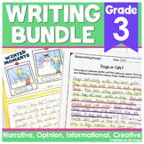 Third Grade Writing Bundle | Narrative Opinion Informational and Creative