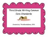 Third Grade Writing Common Core Standards