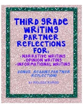 Third Grade Writing Partner Reflections