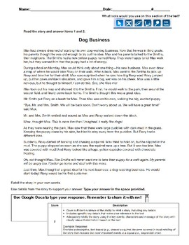 Writing Practice Retelling Prompt for Third Grade