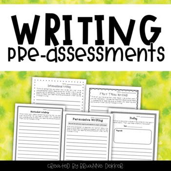 Third Grade Writing Pre-Assessments