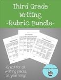 Third Grade Writing Rubrics Bundle
