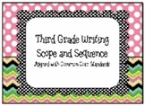 Third Grade Writing Scope and Sequence - Common Core