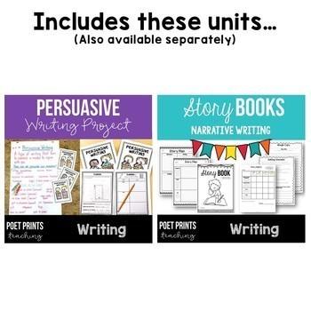 Third Grade Writing Units, BUNDLE