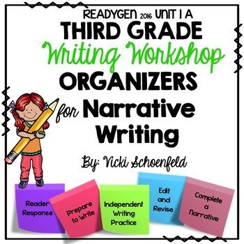 Narrative Writing Organizers for Third Grade Readygen