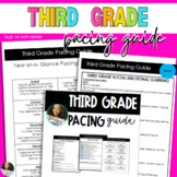 Third Grade Year Long Pacing Guide w/Monthly Calendar and