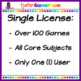 Third Grade Powerpoint Game Bundle - Single License