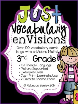 Third Grade enVisions: Just Vocabulary