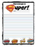 Third Grade is Super A letter to your future Third graders
