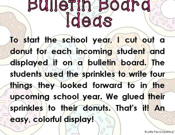 Third Grade is Sweet! Donut Bulletin Board Pieces