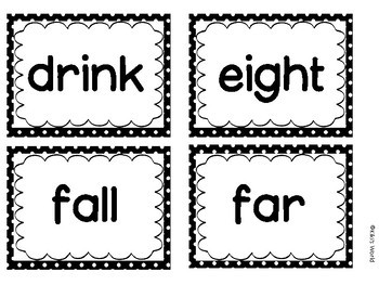 Third Grade Sight word flash cards (Word Wall)