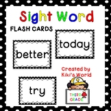 Third Grade Sight word flash cards (Word Wall)