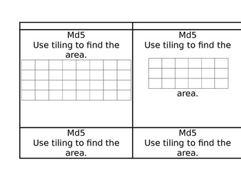 Third Grade- task Cards- 3MD5 Common Core