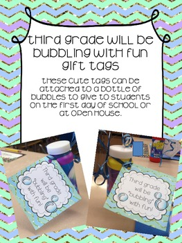 """Third Grade will be """"bubbling"""" with fun!"""