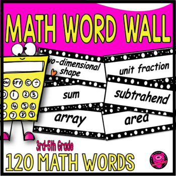 3rd Grade Common Core 120 Math Vocabulary Cards