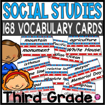 Third Grade Social Studies Common Core Wall Wall Vocabulary Set