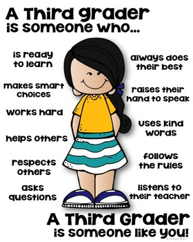 Third Grader Poster - [someone who]
