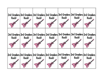 Third Graders Rock! Brag Tags