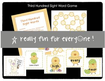 Third Hundred Sight Words Game