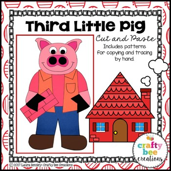 Third Little Pig Cut and Paste