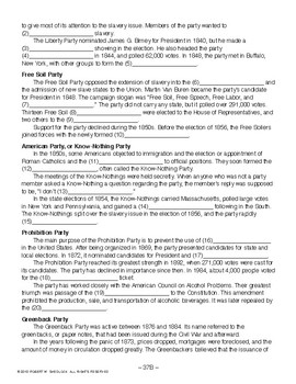Third Parties, AMERICAN GOVERNMENT LESSON 37 of 105, Activity+Quiz