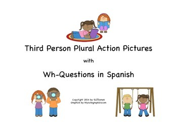 Picture Scenes with Spanish Wh-Questions