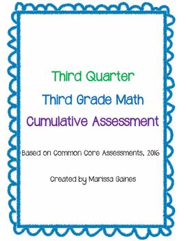 Third Quarter Cumulative Math Assessment