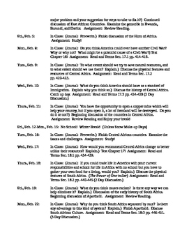 Third Quarter Syllabus for Prentice Hall America: History of Our Nation