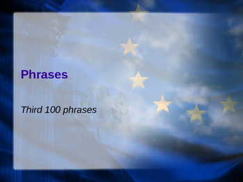 Third Set of 100 Phrases on Power Point