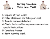 Third and Fourth Grade Classroom Procedures