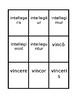 Third conjugation Present passive Latin verbs Spoons game / Uno game
