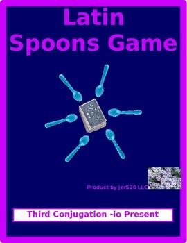Third conjugation -io Present passive Latin verbs Spoons g