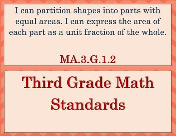 """Third grade CC Math standards in """"I can"""" statements"""