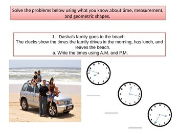 "Third grade  Math Critical Area 3 ""The Beach"" Performance Task"