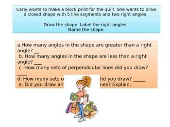 "Third grade Math Critical Area 4 ""Making a Quilt"" Performance Task"