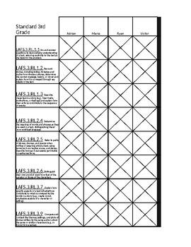 Third grade ELA Tracking tool