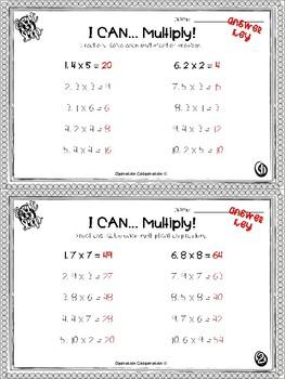 Third grade Exit Slips: Multiplication