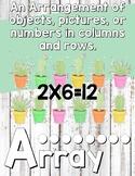 Third grade Math Alphabet Trendy Desert Theme