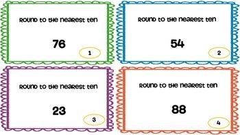 Third grade Rounding Task Cards