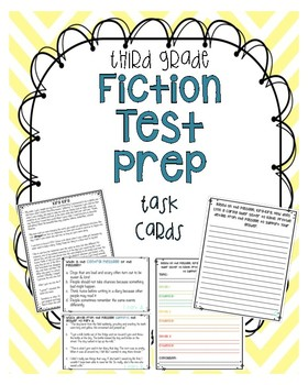 Third grade Fiction Test Prep Task Cards (Reading and Writing )