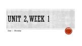 Third grade Wonders PowerPoint Unit 2, Week 1