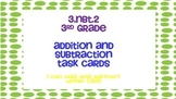 Third grade addition and subtraction task cards