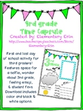 Third grade first & last day time capsule