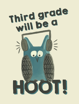 Third grade will be a hoot! - Owl Theme Treat Bag Labels - Open House