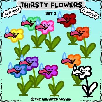 Thirsty Flowers Clip Art Set 2