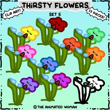 Thirsty Flowers Clip Art Set 5